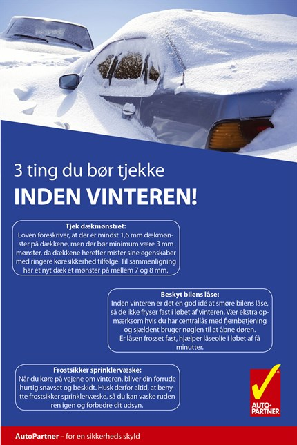 Auto Partner Infographic 3 Ting Du Bør Tjekke Inden Vinteren