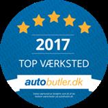 Autobutler Topvaerksted 2017 Sticker Dk 200