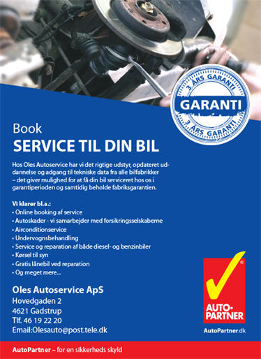 170213 Oles Autoservice Service Annonce 131X180mm